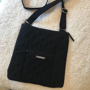 Vera Bradley black quilted crossbody